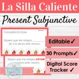 EDITABLE Spanish Present Subjunctive Hot Seat Game   La Si