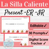 EDITABLE Spanish Present Tense ER IR Verbs Hot Seat Game  