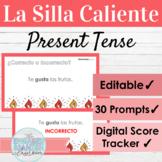 EDITABLE Spanish Present Tense Hot Seat Game   La Silla Caliente