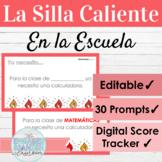 EDITABLE Spanish School Life Hot Seat Game   La Silla Caliente