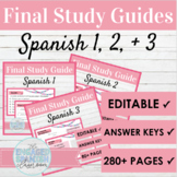 EDITABLE Spanish Study Guide Bundle | Spanish Review Activities