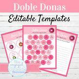 EDITABLE Spanish Writing Activity Template Doble Donas   G