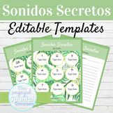 EDITABLE Speaking Activity Template Sonidos Secretos