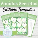EDITABLE Speaking Activity Template Sonidos Secretos