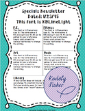 EDITABLE Specials Newsletter Template (elementary)