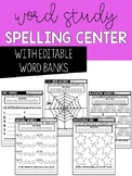 EDITABLE Spelling and Word Study Activities