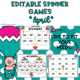 EDITABLE Spinner Games April