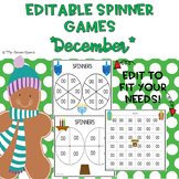 EDITABLE Spinner Games December