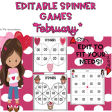 EDITABLE Spinner Games February