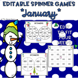 EDITABLE Spinner Games January