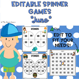 EDITABLE Spinner Games June