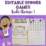 EDITABLE Spinner Games Kids Theme 1