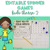 EDITABLE Spinner Games Kids Theme 2