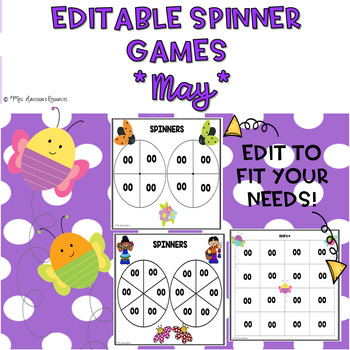 EDITABLE Spinner Games May