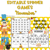 EDITABLE Spinner Games November