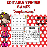 EDITABLE Spinner Games September