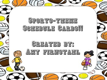 EDITABLE Sports-theme Schedule Cards!
