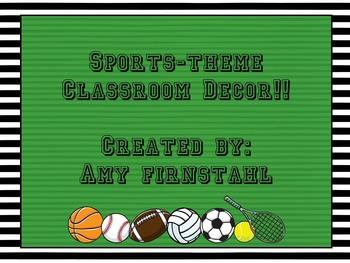 EDITABLE Sports Classroom Decor Pack!!