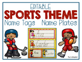 EDITABLE Sports Name Tags and Name Plates