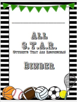 EDITABLE Sports-theme Binder/Folder Covers!!