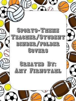 EDITABLE Sports-theme Binder/Folder Covers!!