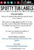 EDITABLE Spotty Labels