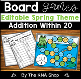 EDITABLE - Spring Board Games - Addition Within 20