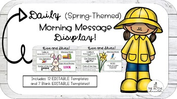 EDITABLE (Spring-Themed) Daily Message Display!