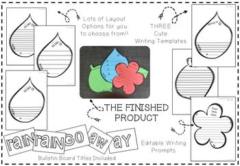 EDITABLE Spring Writing Crafts - Perfect for Student Work Display