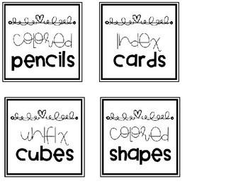 EDITABLE Square Adhesive Label Inserts (Target)
