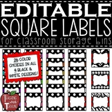 EDITABLE Square Labels {3x3 labels great for magazine holders}