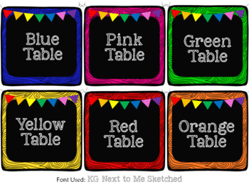 EDITABLE Black CLASSROOM Labels {for Target Dollar Spot SQUARE pockets}