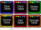 EDITABLE Black CLASSROOM Labels {for Target Dollar Spot SQ
