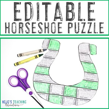 EDITABLE St. Patrick's Day Activity - Make your own puzzles on ANY topic!