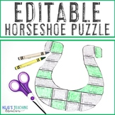 EDITABLE St. Patrick's Day Activity - Make your own puzzle