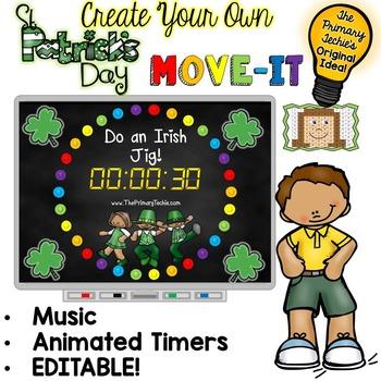 EDITABLE St. Patrick's Day Move It - Brain Breaks