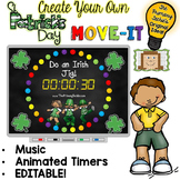 EDITABLE St. Patrick's Day Move It - Brain Breaks