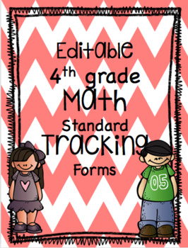 EDITABLE Standard Data Tracking Forms for Math
