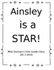 EDITABLE Star Student Letter Template and Cover for Book