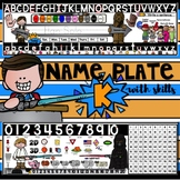 EDITABLE Star Wars NAME PLATE with SKILLS {Desktop Helper for Kindergarten}