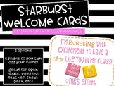 EDITABLE Starburst Welcome Cards for Open House/ Meet the