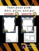 EDITABLE Stationery, Newsletters, & Note Card BUNDLE (Construction Theme)
