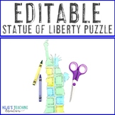 EDITABLE Statue of Liberty Activity - Create your own puzzle on ANY topic!