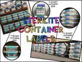 EDITABLE Sterilite Container Labels
