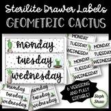EDITABLE - Sterilite Drawer Labels - GEOMETRIC CACTUS THEME