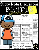 EDITABLE Sticky Note Literacy Discussions/Printable Bookmarks