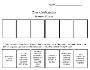 EDITABLE Story Sequence Cut and Paste Worksheet