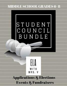 EDITABLE Student Council Bundle: Grades 6-8