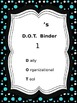 EDITABLE Student Daily Binder in Black & White with Aqua.