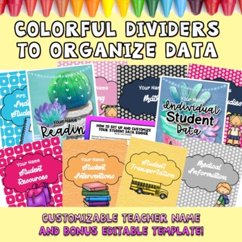 EDITABLE Student Data Binder ⭐️ Lifetime Updates!
